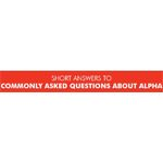 Commonly Asked Alpha Questions